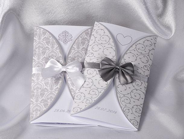 Zaproszenia ślubne Na ślub Specialday Suit Silver Olsztyn Olxpl