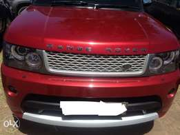 local 2007 Range Rover supercharged 4.2L petrol red wine with uplifted