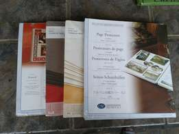Scrapbooking albums and pages