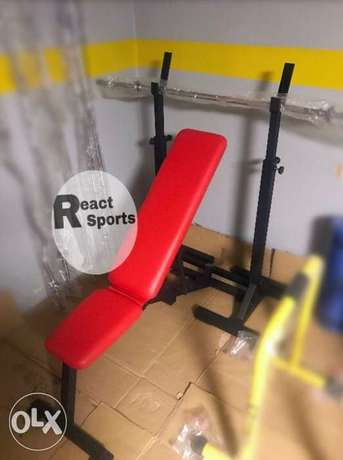 bench 5 levels + squat rack up to 2 meters
