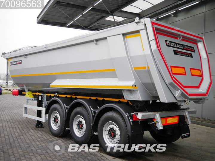 Ozsan 28m3 Stahlkipper 2x SAF Liftachse Wabco - 2019