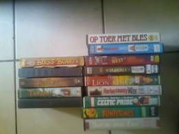 70 VHS casettes with movies and other. Make an offer