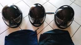 Super price ! 3 x ARC 3/4 motorcycle helmets in very good condition !!