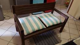 Wooden 2 seater for sale