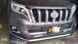 Toyota Prado TX newshape Gray metallic colour fully loaded