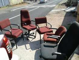 Office chairs and filing cabinets for sale