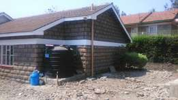 3 bedroom bungalow on 1/2 acre piece of land in Ongata Rongai