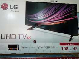 LG 43 uhd4k smart LED TV new in box