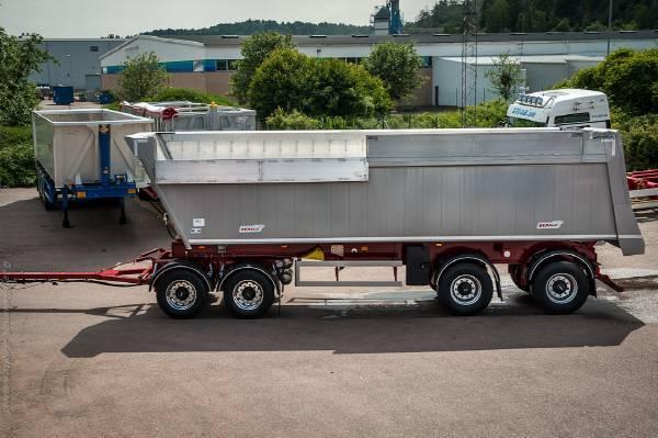 Benalu 38 Ton Tippsläp Multirunner92 Kombo Volym & Sten, - 2018