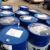 Drums of clean used engine oil