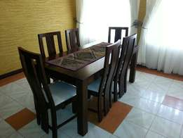 Dinning set comes with six chairs