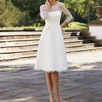2276b83ad4 Piękna krótka suknia ślubna Hawi R.36 38
