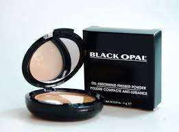 Black opal pressed powder