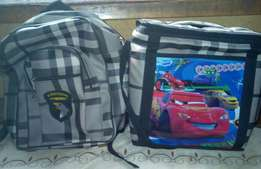 School and Lunch bags