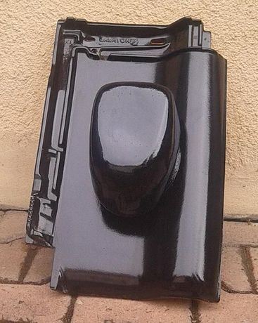 Cudowna Kominek wentylacyjny Creaton Titania czarna glazura 130mm FU57