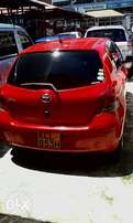Clean red Toyota vitz KCL for sale at Mombasa island