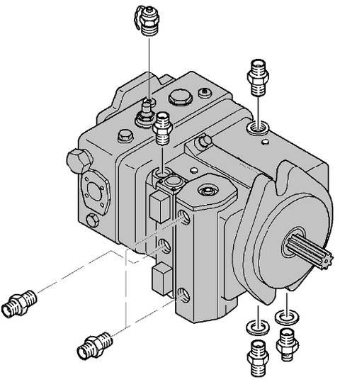 Dieci New  hydraulic pump for   PEGASUS material handling