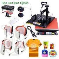 Brand New 8 in 1 , 5 in 1 And Flatbed Heat Press Available