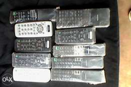 Assorted Sony audio system remote controls