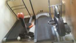 Treadmill ,exercise bike and rower .for exercise