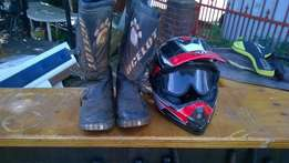Offroad Helmet and Boots