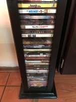 DVD racks with DVDs