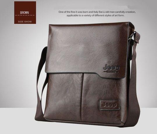 JEEP мужская кожаная сумка через на плечо. Чоловіча сумка Polo Поло Львів -  зображення 3 f509f87633a7d