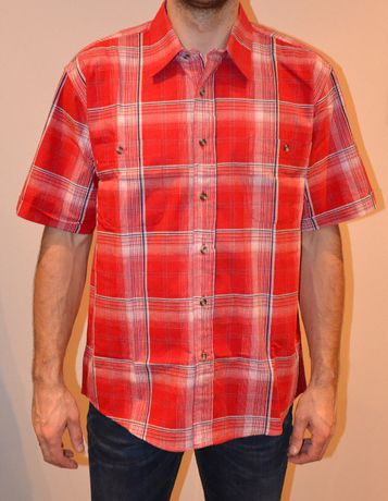 4872aab9e8ed93 Nowa Koszula męska, czerwona krata, krótki rękaw, rozmiar XL Wojkowice -  image 1