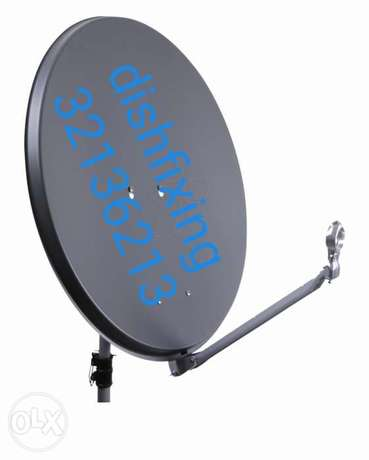 Fixing of satellite dish and CCTV cameras