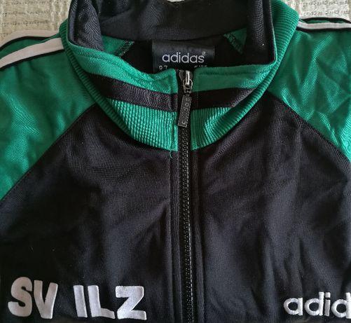 ADIDAS Bluza Męska ROZMIAR L Czarno Zielona Rozpinana na