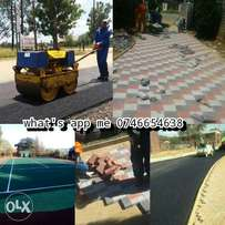 Tar surface drive ways and tennis courts