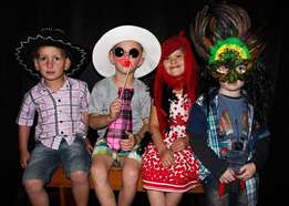 Fun photo booth for kiddies parties!