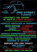 Motor vehicle repairs and services