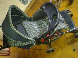 Blue reversable stroller