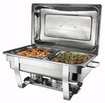 Two burner chafing dish with double pans