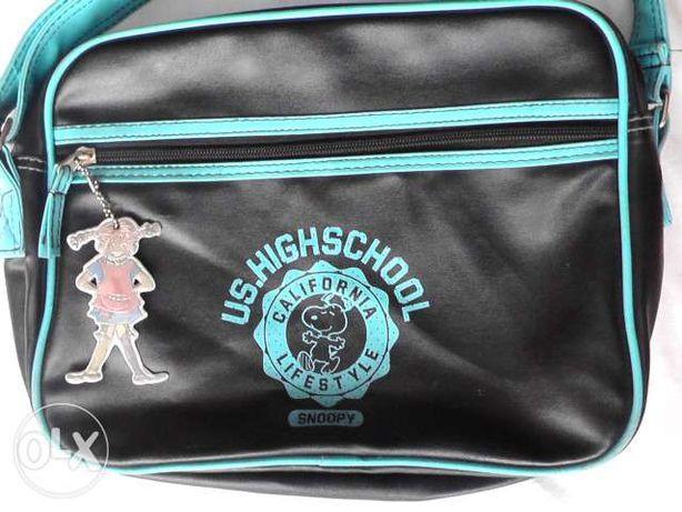 7f076044a346a SNOOPY torebka sportowa na ramię czarno niebieska Człuchów - image 1