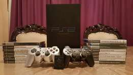 PS2 + 15Games + Cables + Memory Card + 2 Controllers