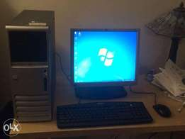 Cpu HP complete set with tft 17inches, keyboard, mouse and cables!!
