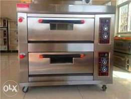 Gas oven four trays