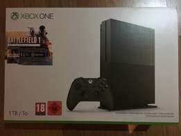 Microsoft xbox one 1TB in military green with games no offer