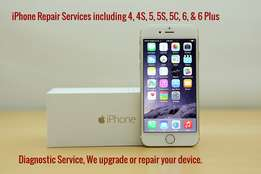 iPhone Repair Services including 4, 4S, 5, 5S, 5C, 6, & 6 Plus