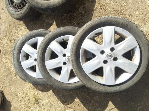 """Nissan March Note 15"""" Alloys with Tyres Set of 4 Umoja - image 1"""