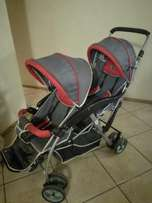 Little one twin pram