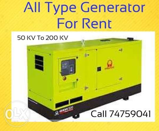Generator For Rent and Sale
