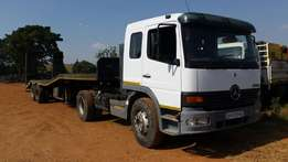 2002, mercedes benz,1735 ATEGO, with double axle lowbed