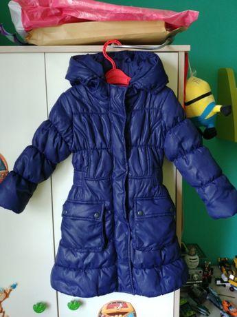 Płaszcz płaszczyk kurtka granatowy pikowany 5 10 15 r.98