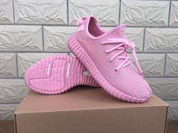 Female Adidas Yezzy sneakers