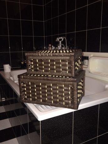 Pojemnik Pudełko Kosz Koszyk Do łazienki Kuchni Zestaw Na