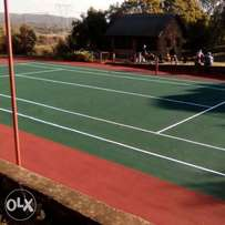 Taring and paving drive way marking lines basket ball