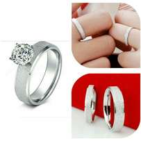 Everlasting steel rings for couple